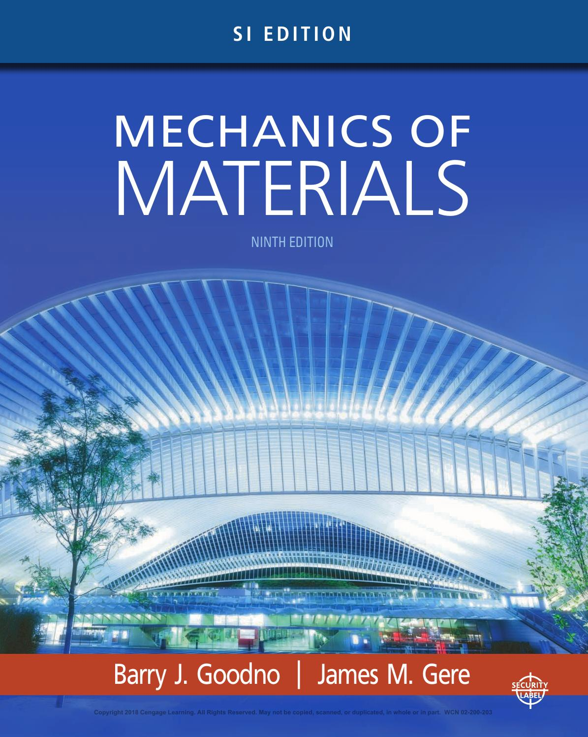 Instructor Solutions Manual Mechanics Of Materials 9th